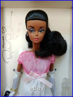 Us Convention Silkstone Barbie Nrfb Signed By Robert Best Platinum Label Aa