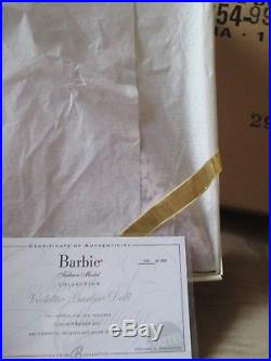 VIOLETTE SILKSTONE BARBIE PLATINUM LABEL NRFB WITH SHIPPER! Mint