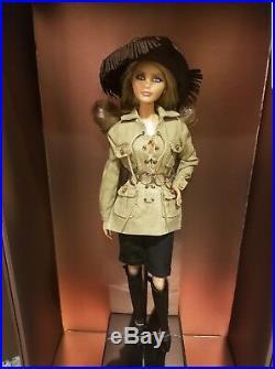 Ysl Yves Saint Laurent Barbie Doll Set Mondrian Safari Evening Gown Platinum